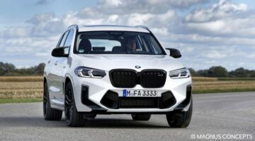 2021 BMW X3 M facelift gets rendered with new grille and front bumper