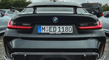 2021 BMW M3 with M Performance Parts and the new quad exhaust system